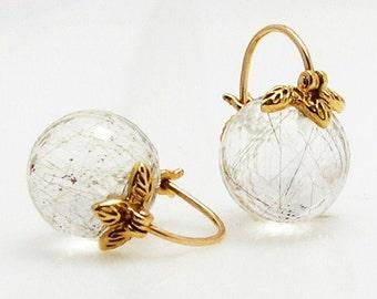 Rutilated quartz Earrings.