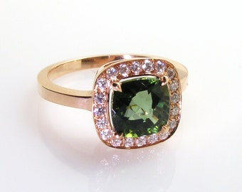 Green tourmaline ring.