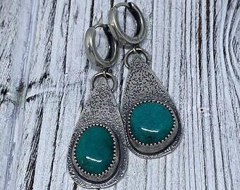 Nacozari Turquoise Sterling Silver Earrings