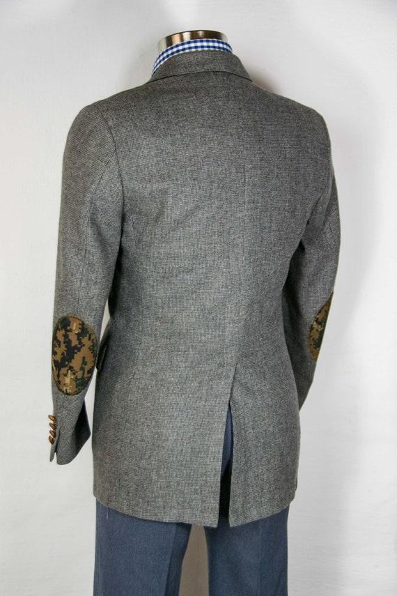 36 short preppy gents gray wool blazer with custom