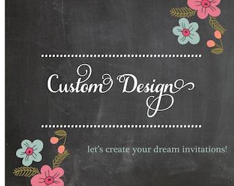Custom Designed Layout Handmade Wedding Invitations
