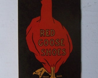 RED GOOSE Shoes Advertising Memo Book 1930's Unused Mint Condition