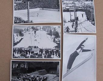 1936 Berlin Olympic Photo Cards, Ski Jump, Ice Skating, Shooting  1936 German Olympic photo cards purchased at the Berlin Olympics