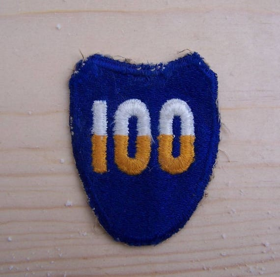 WW2 100th  Infantry Division patch,, Original WW2 US Army Shoulder patch,  ETO WW2, Free Shipping in the USA