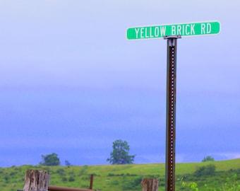 The Yellow Brick Road, near Lewisburg, WV--8 x 10 fine art photo, signed