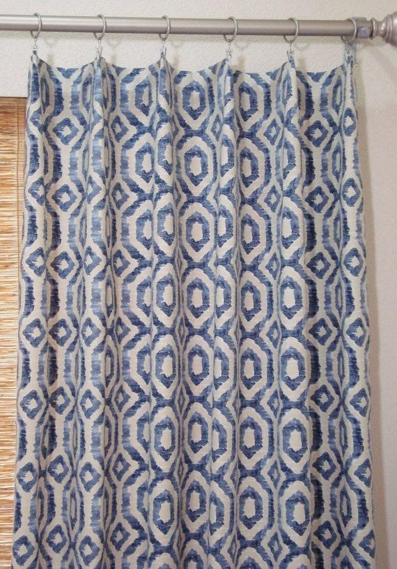 Custom Curtain Panels Batik Print 50x63 50x108 Etsy