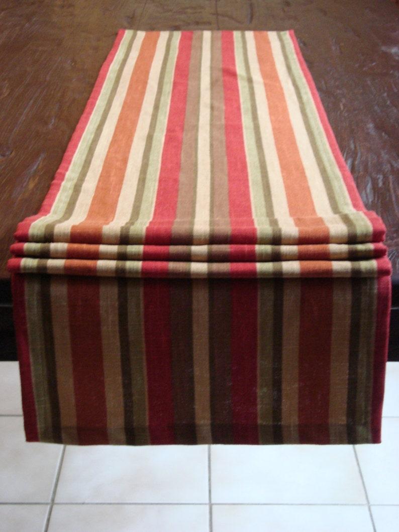 Linen Stripe Table Runner Linen Runner Stripe Runner 15x75 Jaclyn Smith Runner