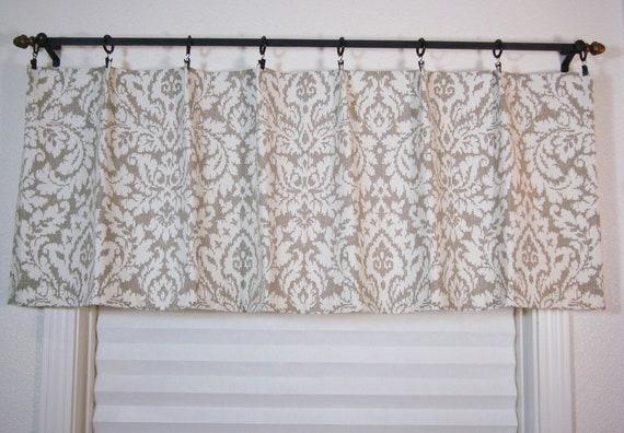 Waverly Custom Curtain Valance Kitchen Valance Modern Damask Window  Treatment Waverly Dashing Valance