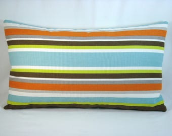Stripe Decorative Modern Pillow Cover Carson Fiesta Accent Pillow Toss Pillow 12x20 Pillow Cover
