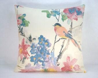 Decorative Modern Accent Pillow Bird Pillow 18x18