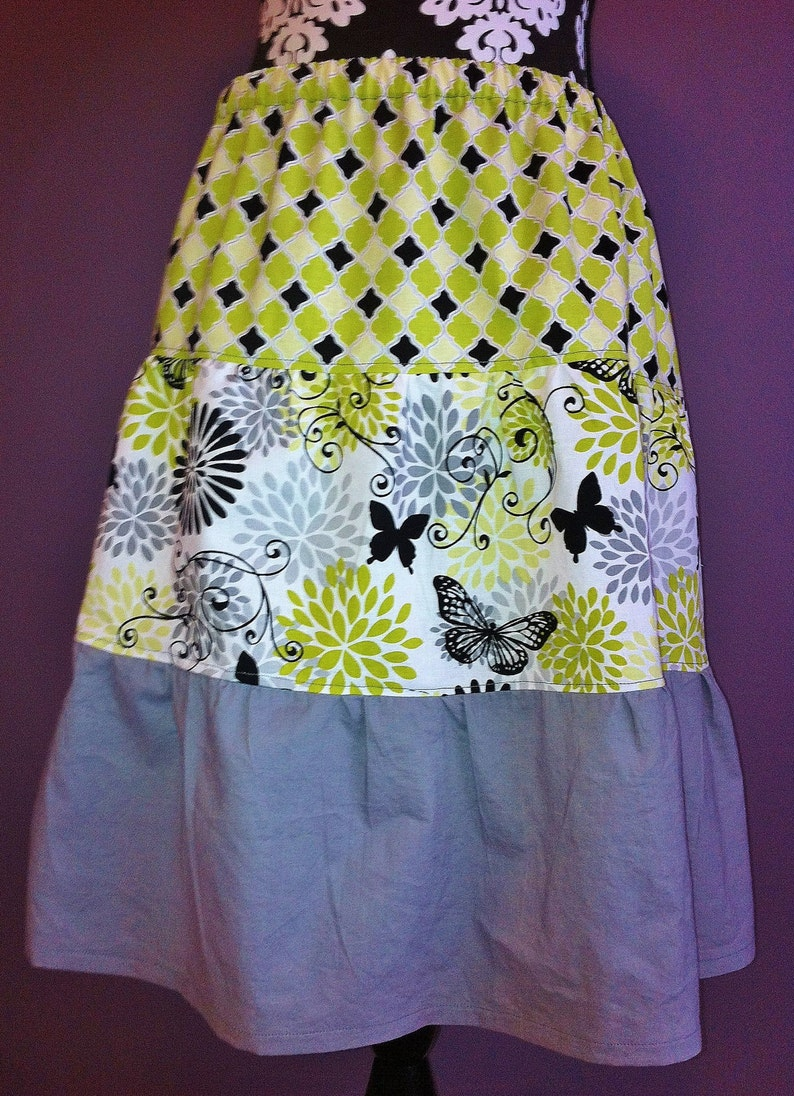 Women's Tiered Skirt  custom made to order you choose image 0