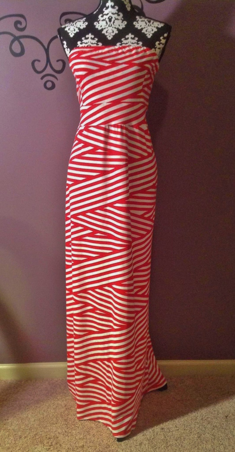 Ladies Maxi Dress  made to order custom you choose fabric image 0
