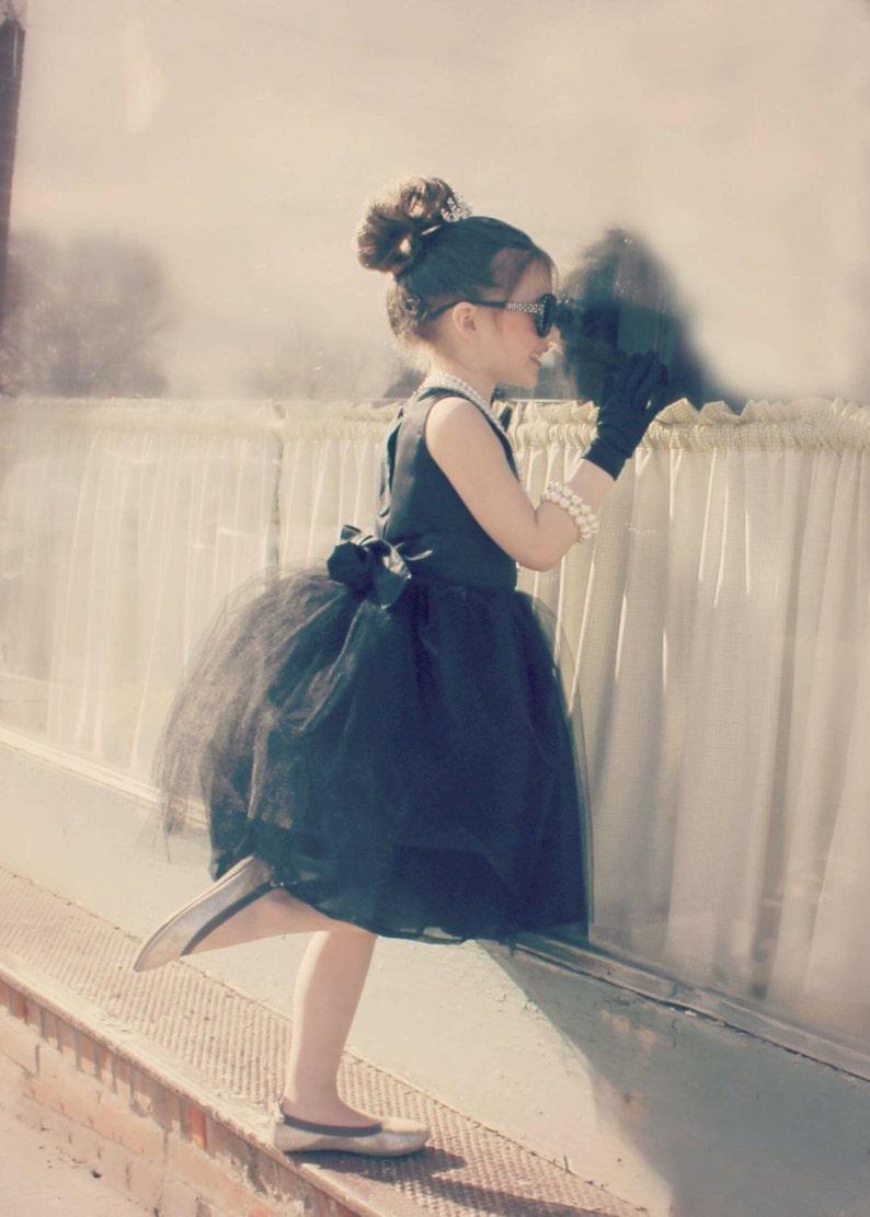 Girls Dress: Tulle Skirt Audrey Hepburn Breakfast at image 0