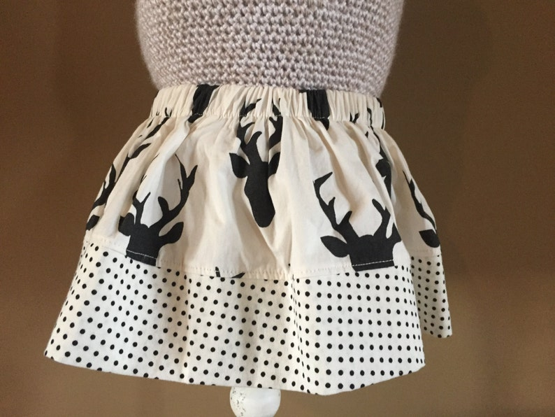 Girls Buck Night Skirt with dot trim image 0