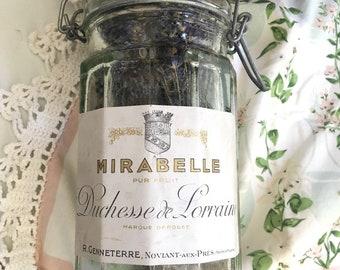 Vintage French Labeled Glass Storage Jar