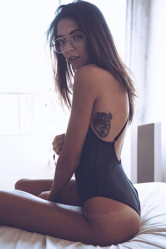 b71dbff4184e7b Backless bodysuit black bodysuit sexy lingerie one-piece | Etsy