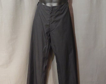 Vintage Jean Paul Gaultier Black  Pants Cotton Wide Leg Pants US Size 38 Made in Italy