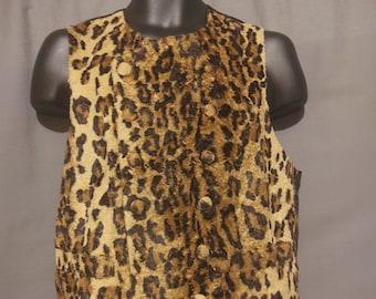 Moschino Cheap and Chic Men's Leopard Print Fun Fur Vest Size US 40 / EU 50