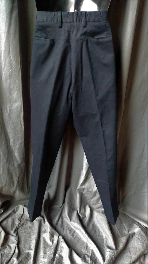 Vintage 1990s Men' s Prada Flat Front Pants in Bl… - image 6