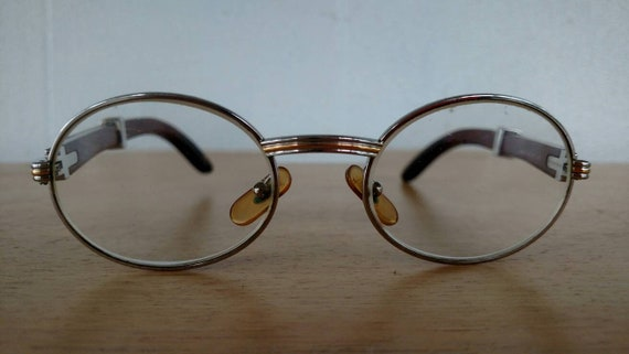 4d5d3c279d Cartier Giverny Palisander Rosewood Prescription Glasses Made in France  Vintage 1990s Now Available in the Shop!