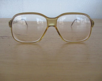 1970s Vintage Christian Dior Monsieur / 70s CD Prescription Glasses in Amber with metal arms by OPTYL Austria Playboy