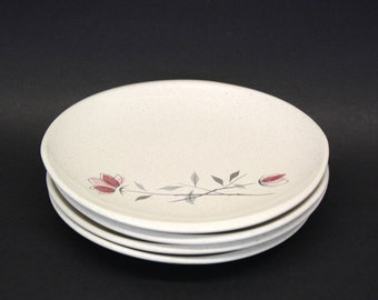 Vintage Set of 4 Franciscan Stoneware Duet Bread and Butter Plates