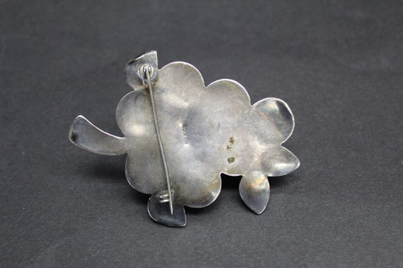 Vintage Large Hollow Mexican Silver Grape Cluster… - image 2