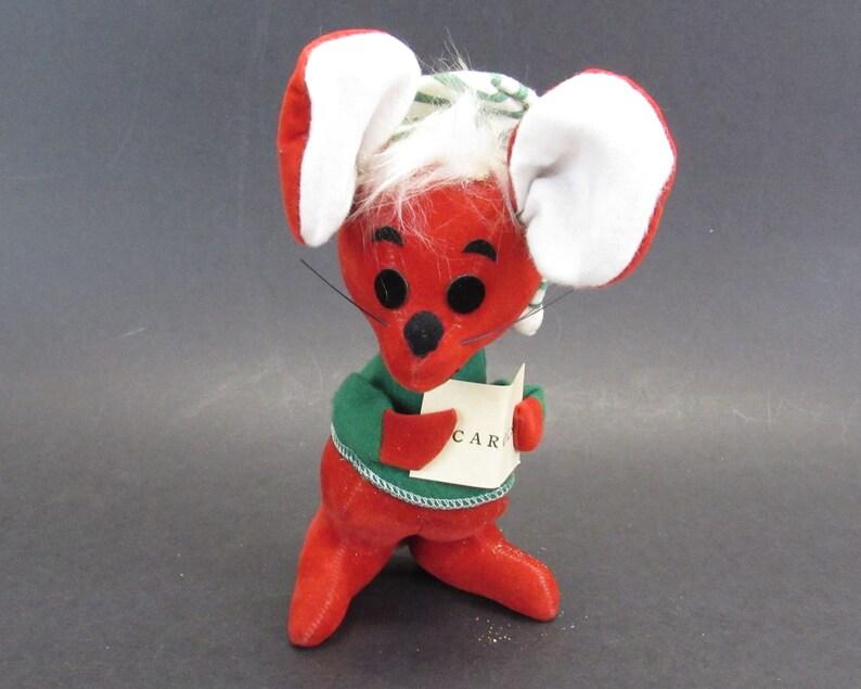 235db77ecf25 Vintage Dream Pets Christmas Carol Stuffed Mouse Toy E11453   Etsy
