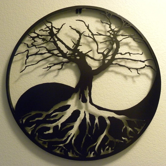 Yin-Yang Tree of Life Metal Wall Art | Etsy
