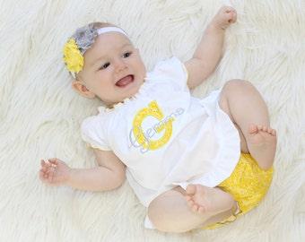Baby Girl Clothes Newborn Baby Dress Personalized Baby Girl Dress  Newborn Girl Take Home Outfit White Yellow Gray Dress New Baby Gifts