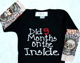 Baby Boy Gift Tattoo Baby Boy Clothes Newborn Boy - 5 T Boy Baby Shower Gift Boys Newborn Boy Baby Gift Tattoo Did 9 Months On The Inside