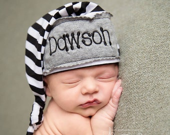 Newborn Hat Boy Personalized Infant Hat Newborn Baby Gift Twins Gifts  Preemie Hat Personalized Beanie Hat Newborn Baby Infant Gift Baby Cap 9b6f6d7da245