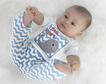 Whale Baby Boy Clothes Newborn Boy take home outfiit Coming Home Outfit Bodysuit Little Squirt Whale Outfit Baby Gift