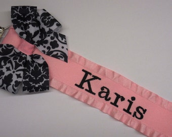 Personalized Initial Leopard Print Baby Pacifier