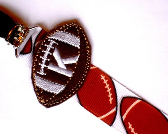 2019 New Style Nfl Logo Football Baby Pacifier Paci Clip - New clip Only Pick Your Team!