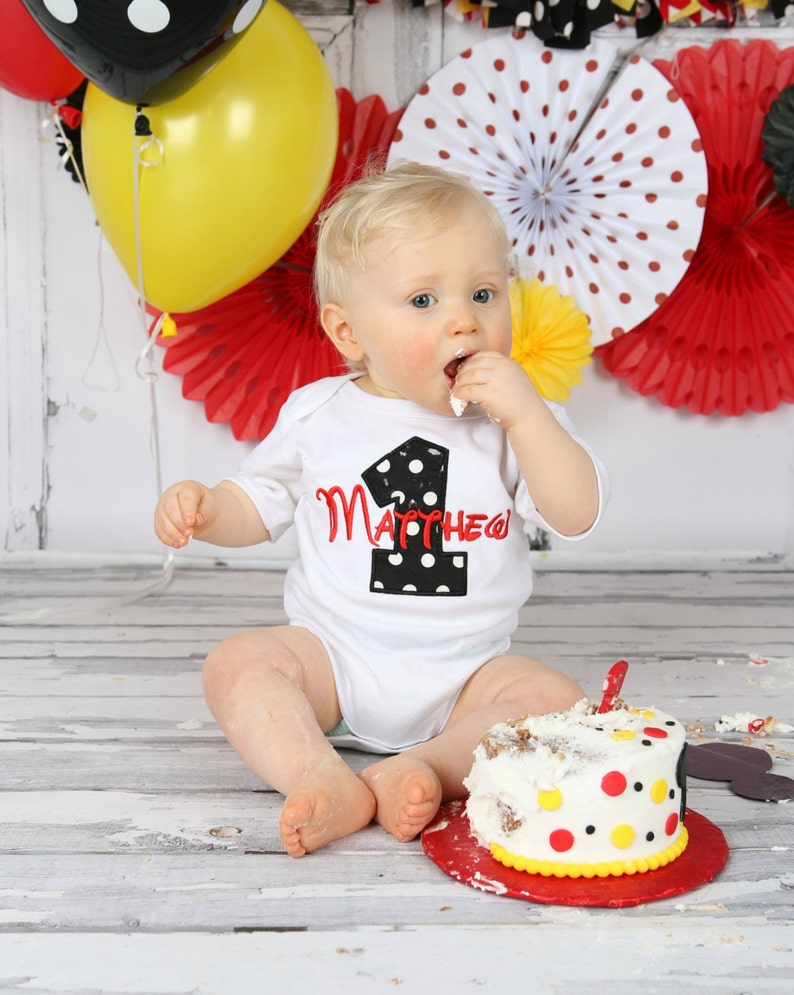 42d45372f3 First birthday outfit boy Personalized Baby Boys First