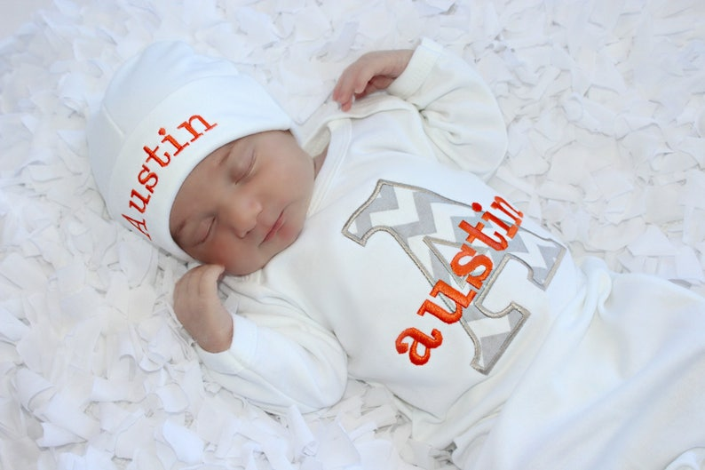 776a4521c3b0 Newborn Baby Boy Clothes Personalized Baby Boy Take Home