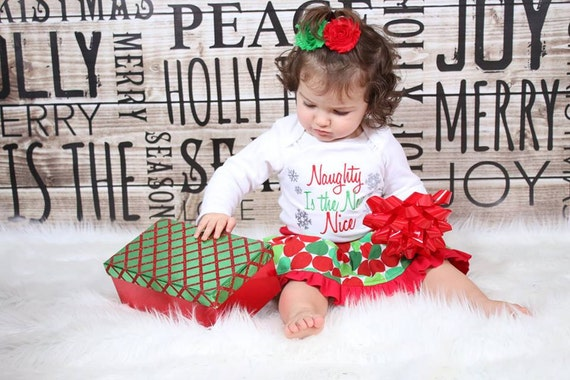 image 0 - Toddler Christmas Outfit Naughty Is The New Nice Toddler Girl Etsy
