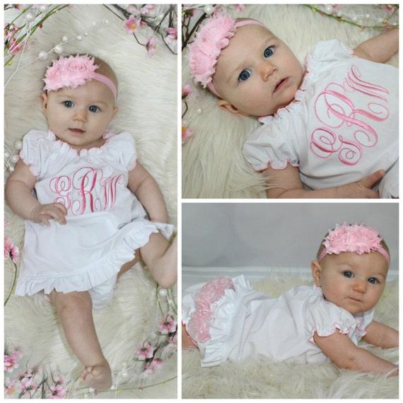 Monogram Girl Dress Newborn Baby Girl Clothes Newborn Girl ...