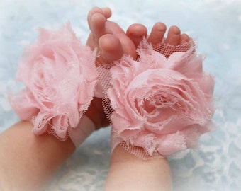 Newborn baby girl barefoot sandals Baby Girl Clothes Accessories for Baby Girl New Baby Gift