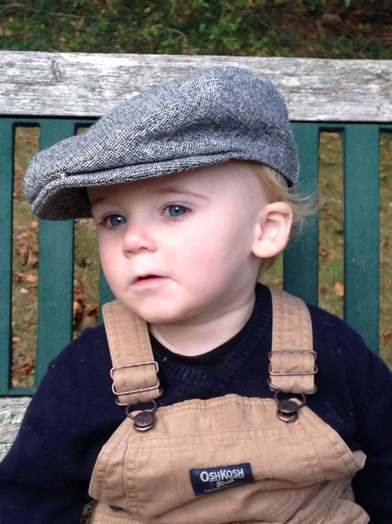 Wool Scally Cap Tweed Flat Cap Kids Scally Cap  79688c739e4