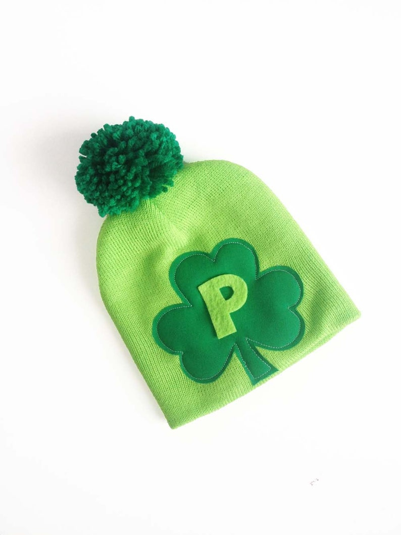 9a3e5be475ab91 St Patrick's Day Initial Hat Shamrock Baby Baby / Toddler | Etsy