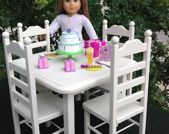 American Doll Table 4 Chair Set. Can Ship For Christmas.