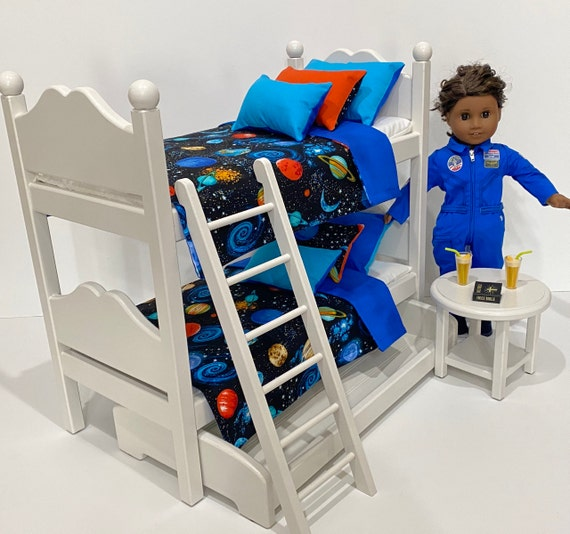 Black girl white guy sex on bunk bed American Girl Or Boy Doll Bunk Beds With Celestial Bedding Etsy