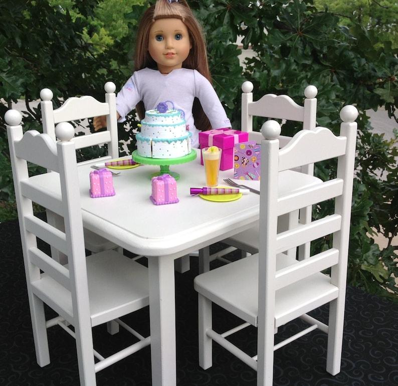 6ec27a4df55c American Girl Doll Furniture table 4 chair set.