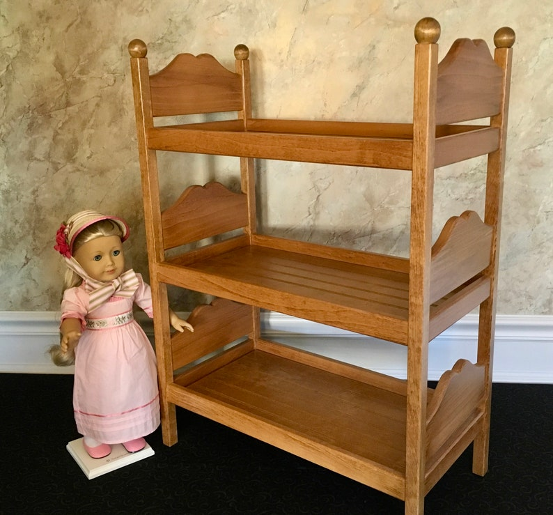 American Girl Doll Furniture Triple Bunk Bed For 18 Inch Etsy