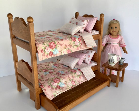 Historical American Girl Doll Bunk Beds Oak Stained With Etsy