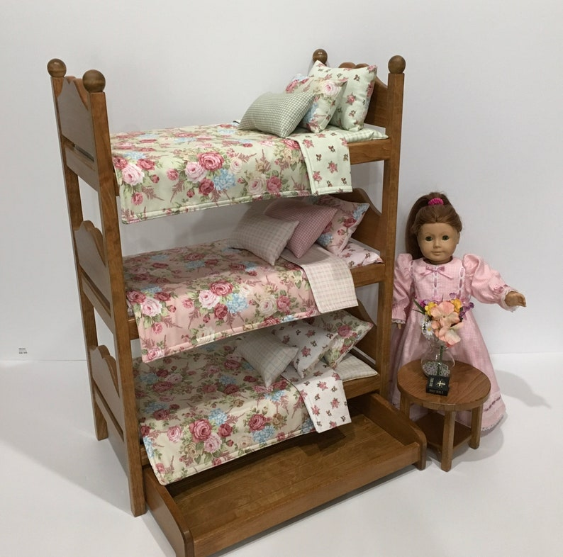 Historical American Girl Doll Furniture Triple Bunk Bed With Etsy