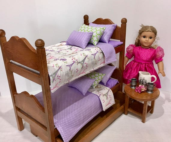 American Girl Doll Bunk Beds Paris Bedding For 18 In Dolls Etsy