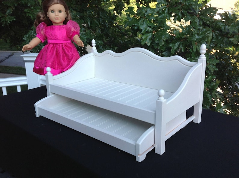 American Girl Doll Furniture Day Bed Trundle For The 18 Inch Etsy